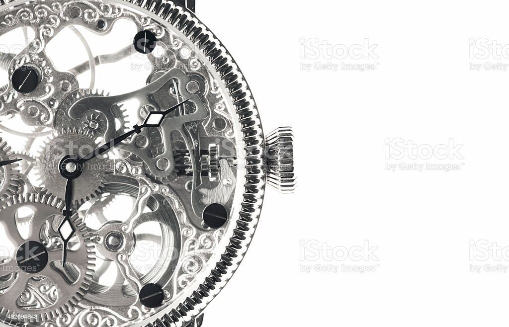 Skeleton Watch stock photo