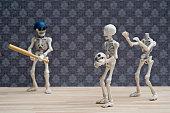 Skeletons baseball game