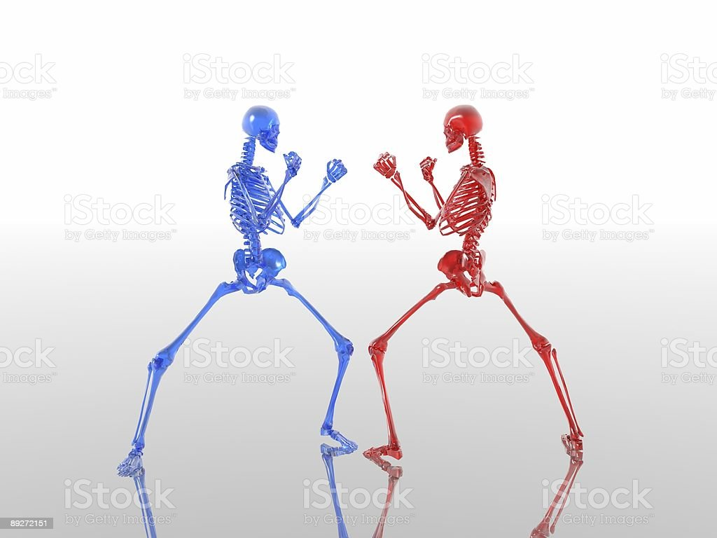 skeletons box royalty-free stock photo