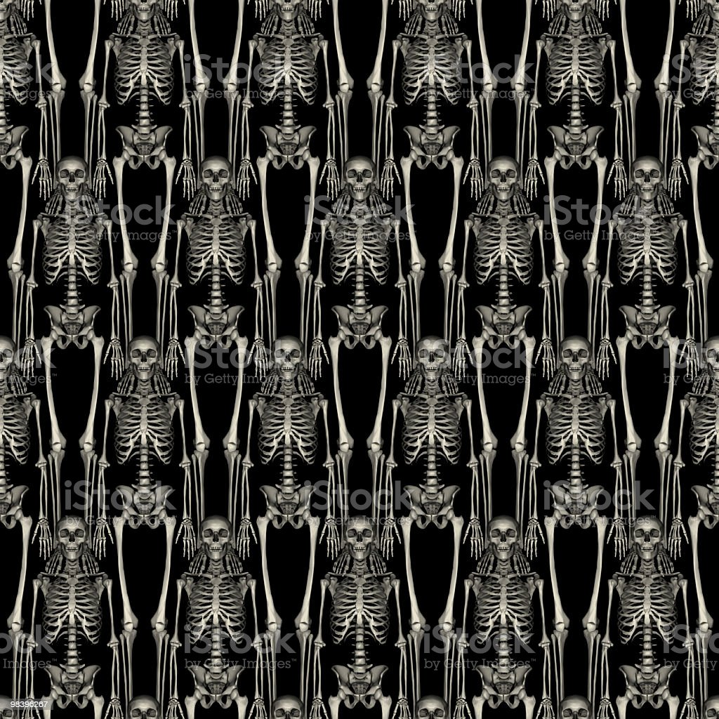 TILEABLE Skeletons Halloween Background royalty-free stock photo