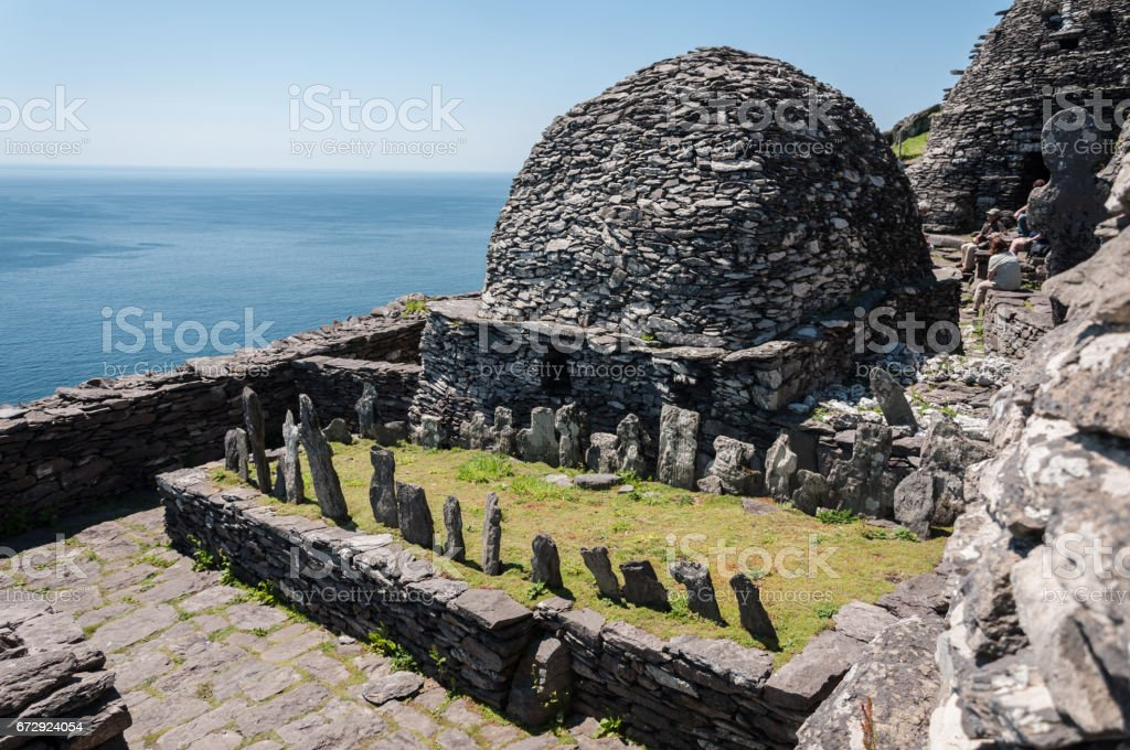Skellig Michael, UNESCO World Heritage Site, Kerry, Ireland. stock photo