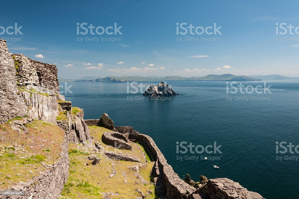 Skellig Michael, UNESCO World Heritage Site stock photo