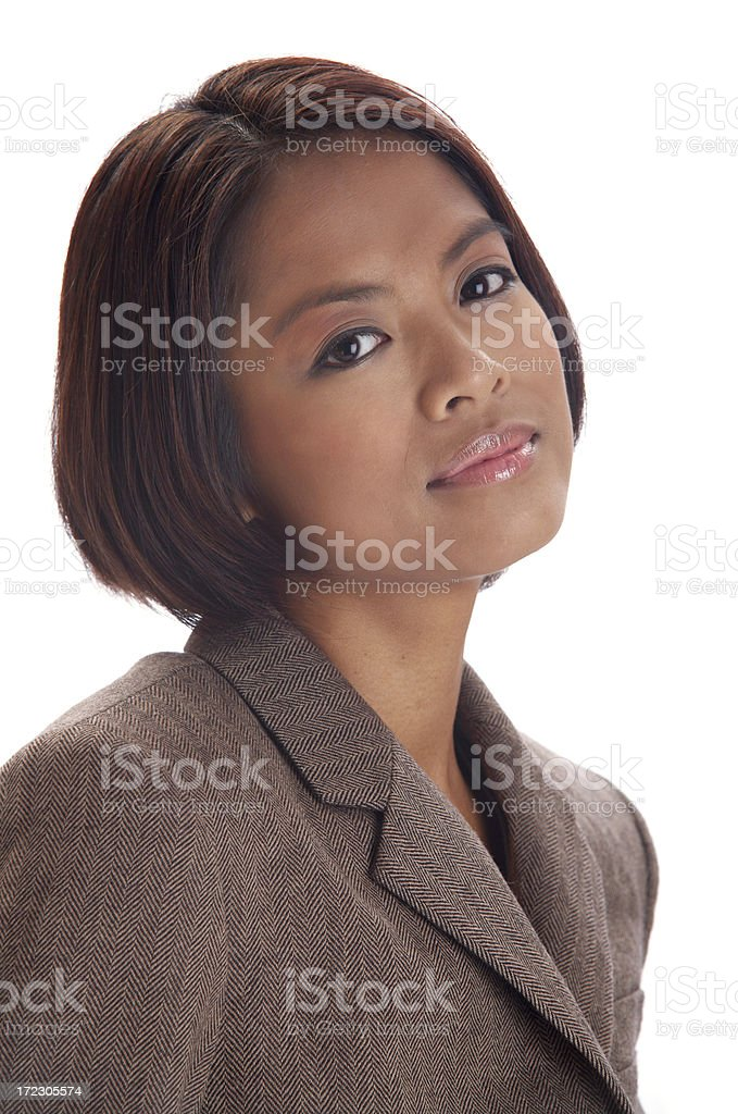 Skeptical businesswoman royalty-free stock photo