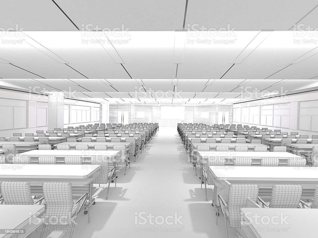3D Sketch architecture Modern conference room Classroom 1 stock photo