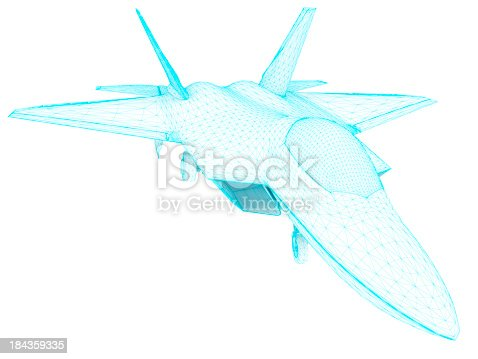 istock 3D Sketch architecture US Air Force F-22 Raptor 2 184359335