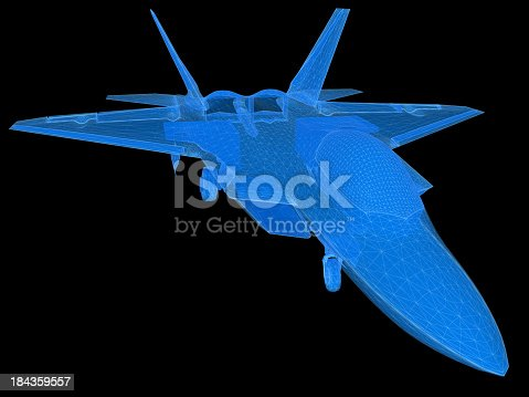 istock 3D Sketch architecture US Air Force F-22 Raptor 3 184359557