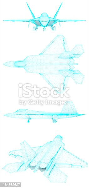 istock 3D Sketch architecture US Air Force F-22 Raptor 4 184362627