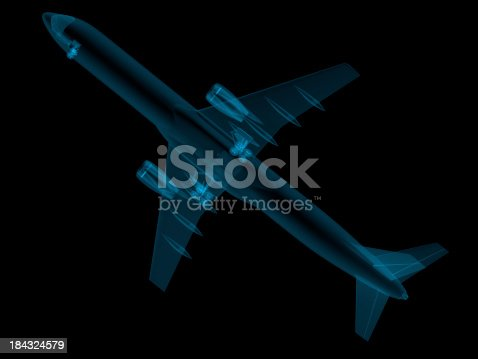 istock 3D Sketch architecture X-ray Image Airplane 184324579