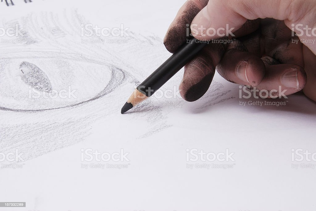 Sketch Artist royalty-free stock photo