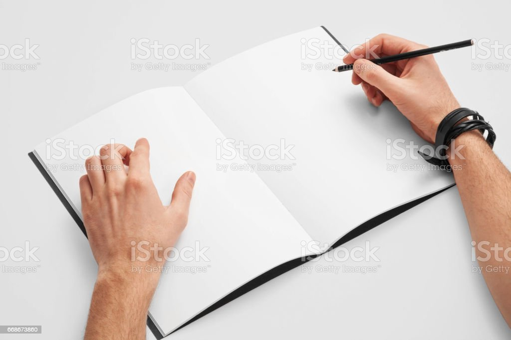 Sketch Book Mockup Stock Photo Download Image Now Istock