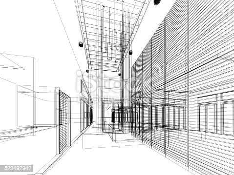 528056058istockphoto sketch design of interior hall 523492942