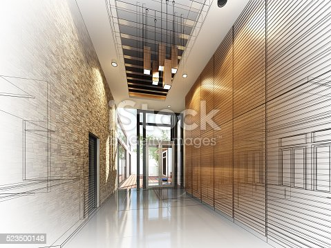 528056058istockphoto sketch design of interior hall 523500148