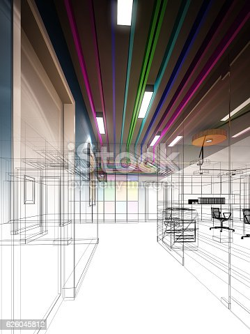 528056058istockphoto sketch design of interior hall 626045812
