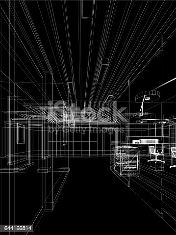 528056058istockphoto sketch design of interior hall 644166814