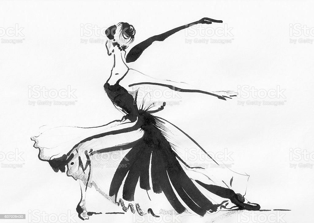 Ballerina Di Danza Classica Disegno Plié Di Pagina I Principi Della