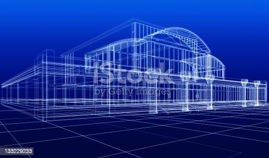 istock sketch of office building 133229233