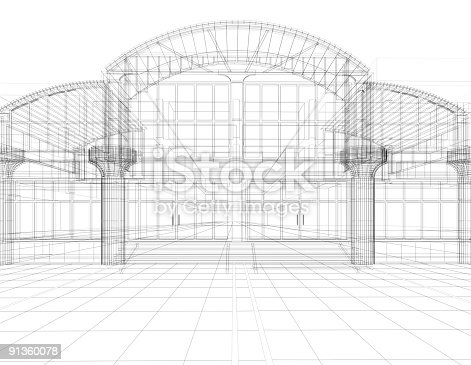 istock sketch of office building 91360078