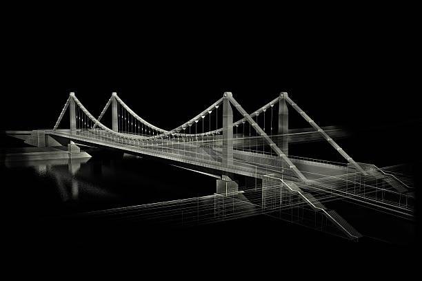 Skizze der Brücke in Schwarz/Weiß – Foto