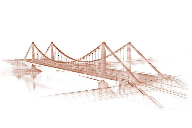 Skizze der Brücke in sepia – Foto