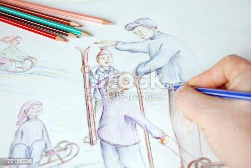 istock Sketch - Sledge 172158235