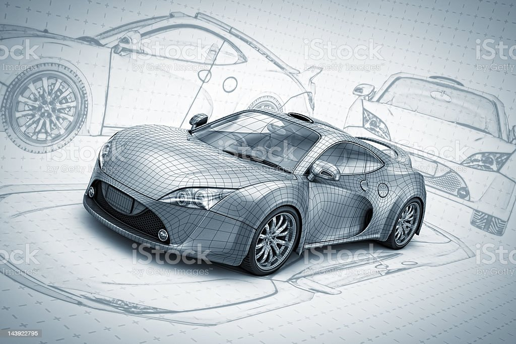 sketch supercar stock photo