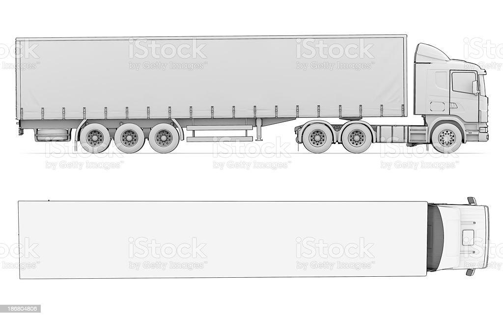 Weiße Lkw Skizze Stock-Fotografie und mehr Bilder von Anhänger | iStock