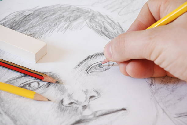sketch5 - pencil drawing stock pictures, royalty-free photos & images