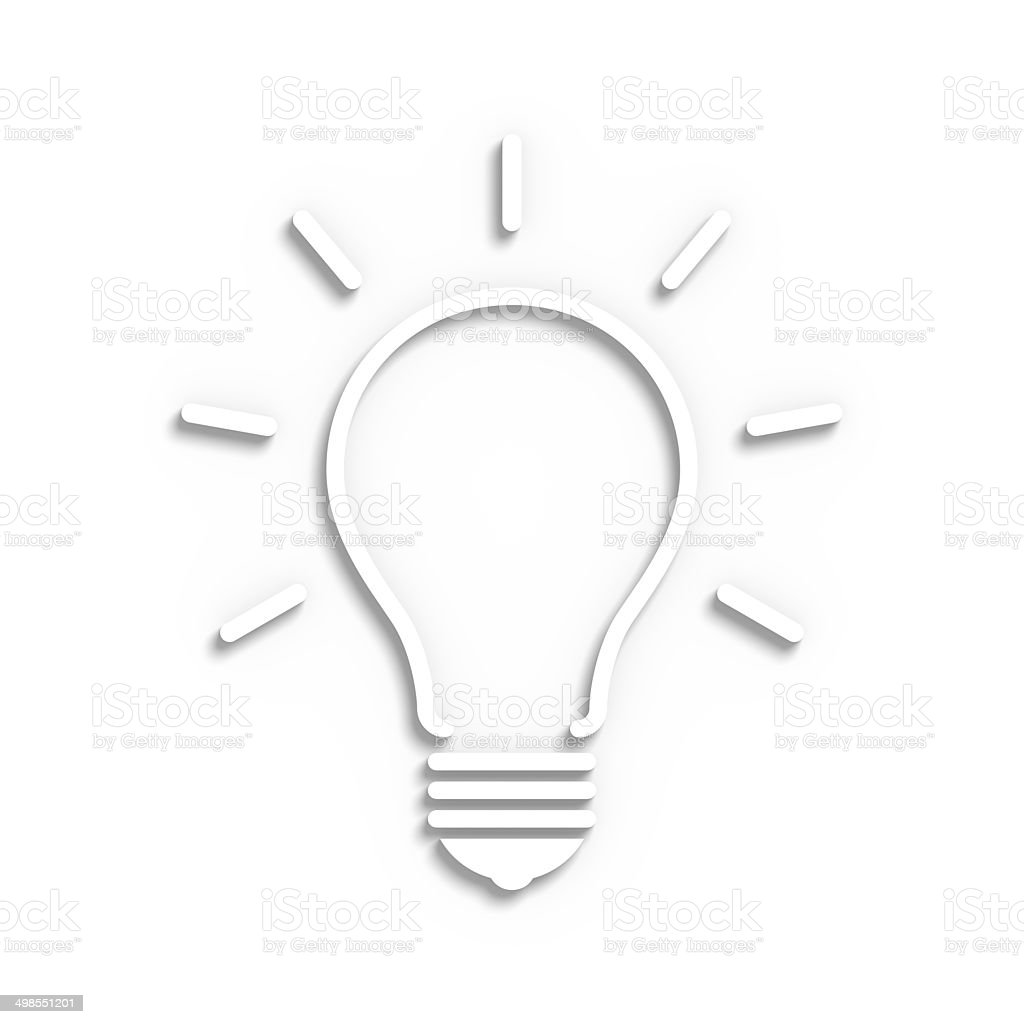 Sketchy Bulb stock photo