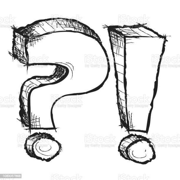 Sketchy hand drawn question and exclamation marks isolated picture id1083057868?b=1&k=6&m=1083057868&s=612x612&h=gdufcrxqkjmioxzeeuimsrnxhvi4xy4qe aldb0cisc=