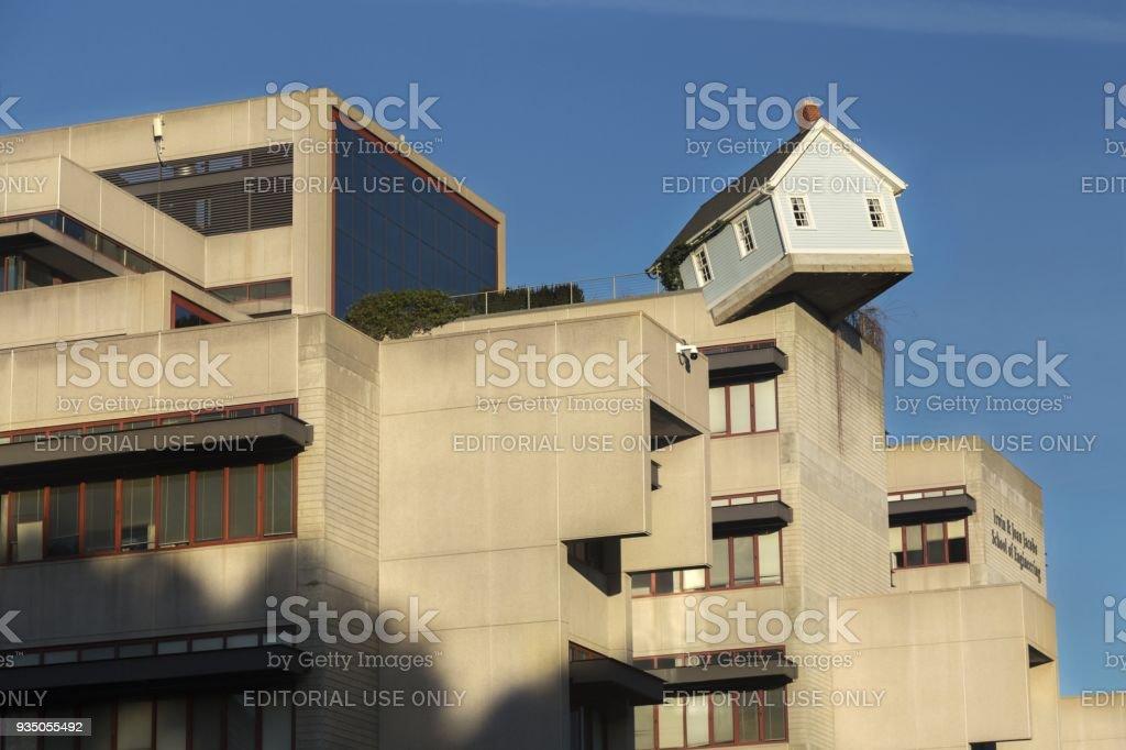 Skewed House On Roof Of Jacob School Of Engineering At University Of