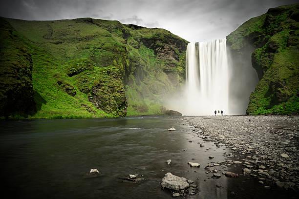 Skógafoss Waterfall, Iceland stock photo