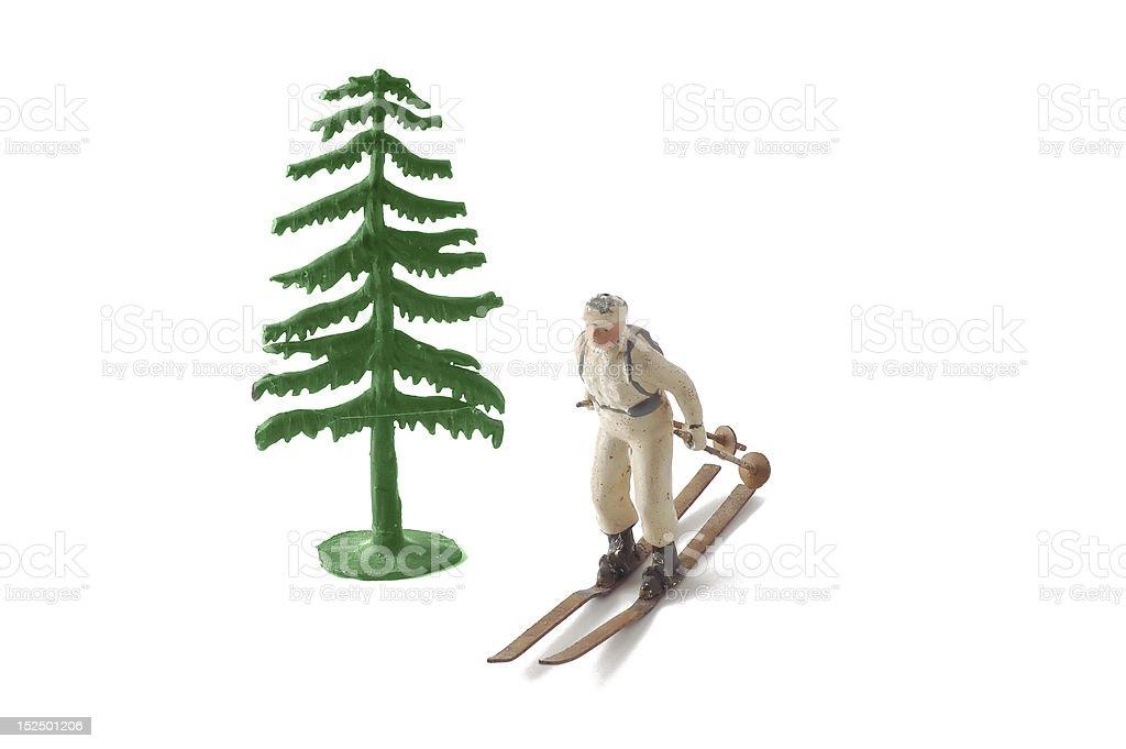 Ski and Tree Symbol stock photo