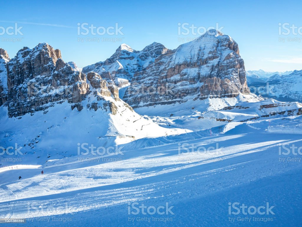 Ski area of the dolomites