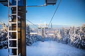istock Ski areal Jested in sunny winter day in mountain, Liberec, Czech Republic 1198271731