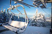istock Ski areal Jested in sunny winter day in mountain, Liberec, Czech Republic 1198271733