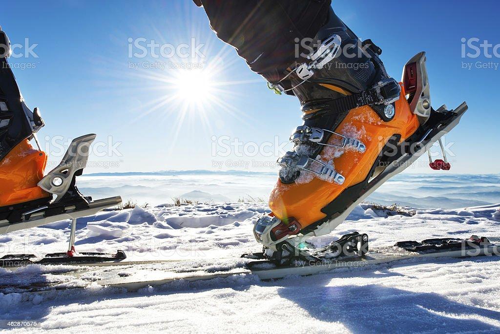Ski boot stock photo
