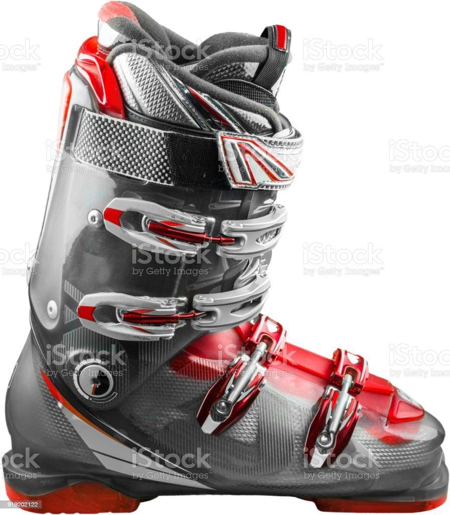 Ski boot. stock photo