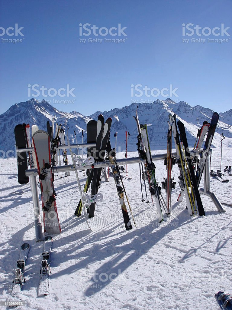ski break stock photo