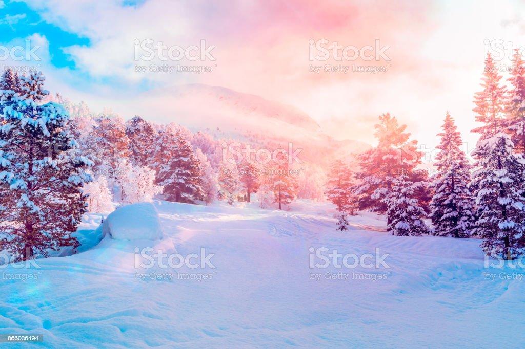 Ski Centre, Stryn (Norge) sunrise - Royaltyfri Berg Bildbanksbilder