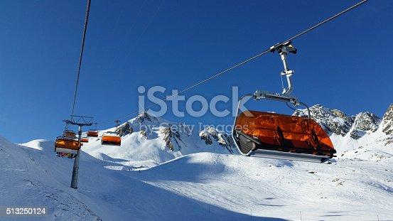 istock Ski chairlift at Ischgl 513250124