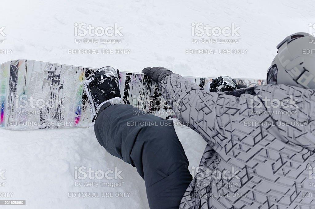 Ski club Leonid Tyagachev stock photo