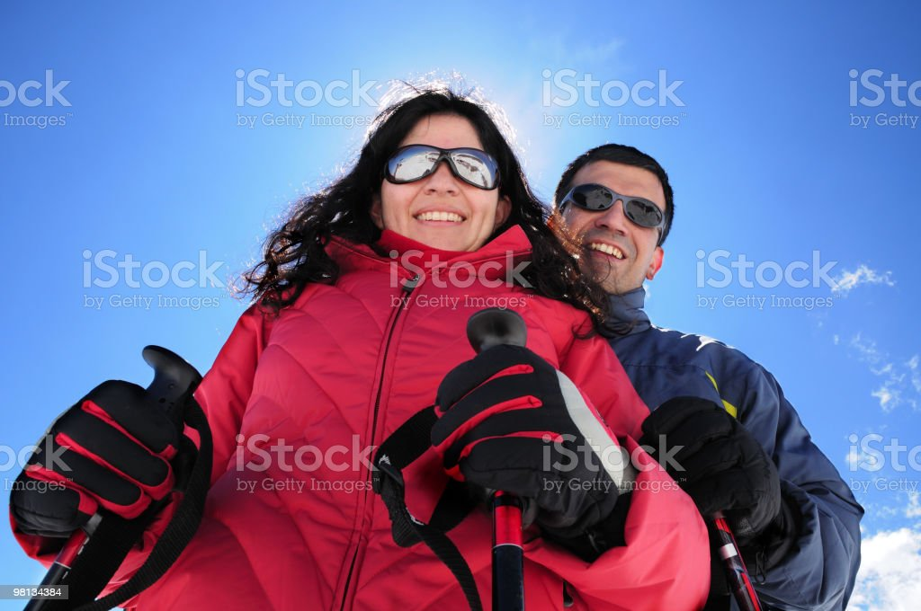 Ski Couple royalty-free stock photo