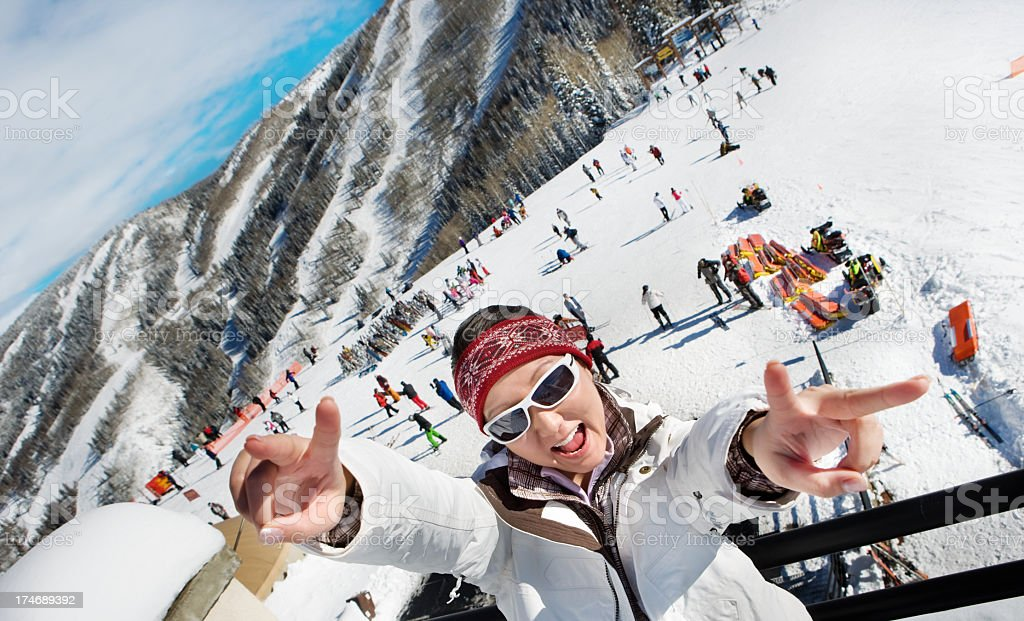 ski crazy royalty-free stock photo