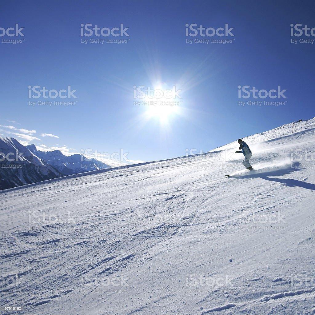 Ski Driver royalty-free stock photo