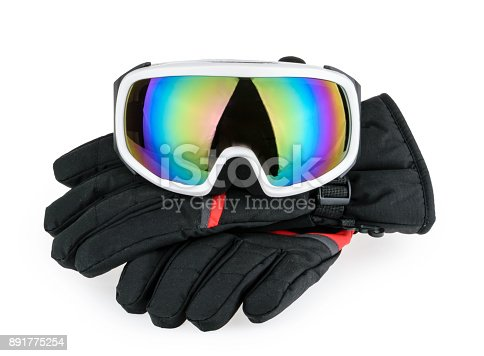 istock Ski equipment isolated 891775254