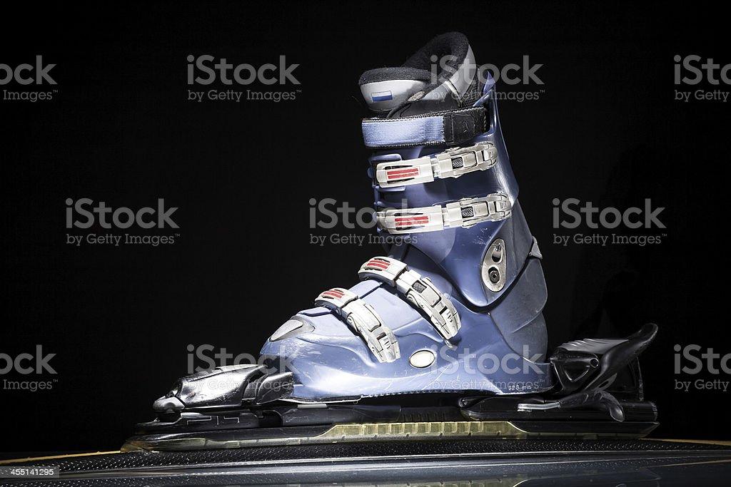 Ski equipment stock photo