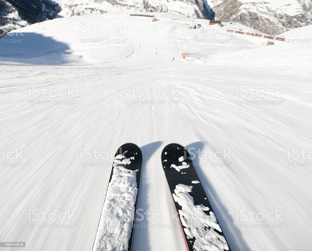 Ski Exhiliration stock photo