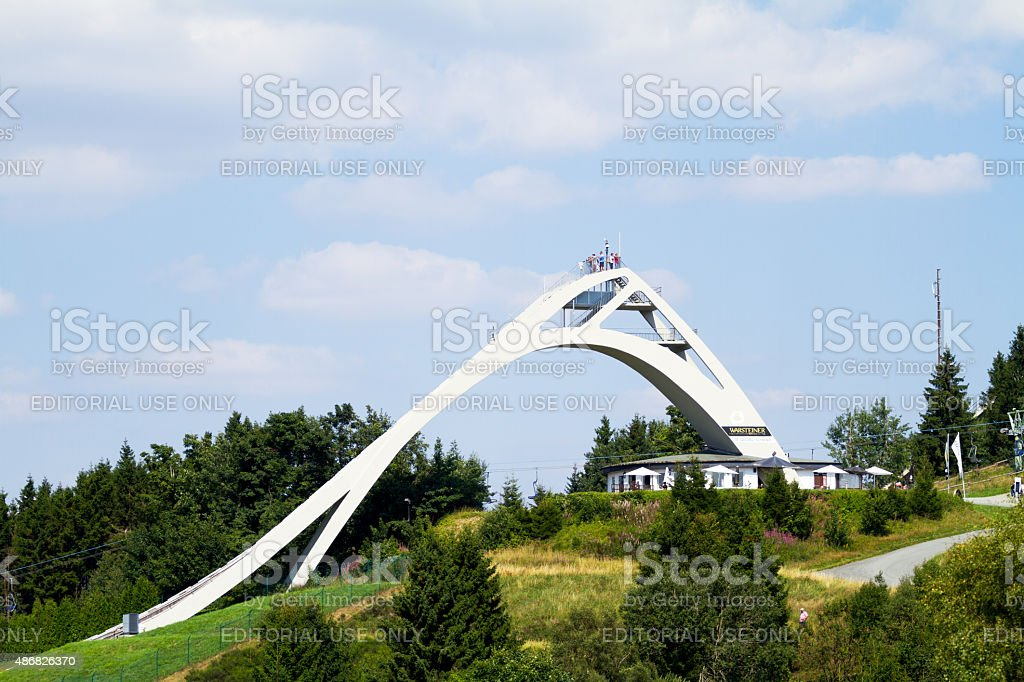Ski flying of Winterberg stock photo