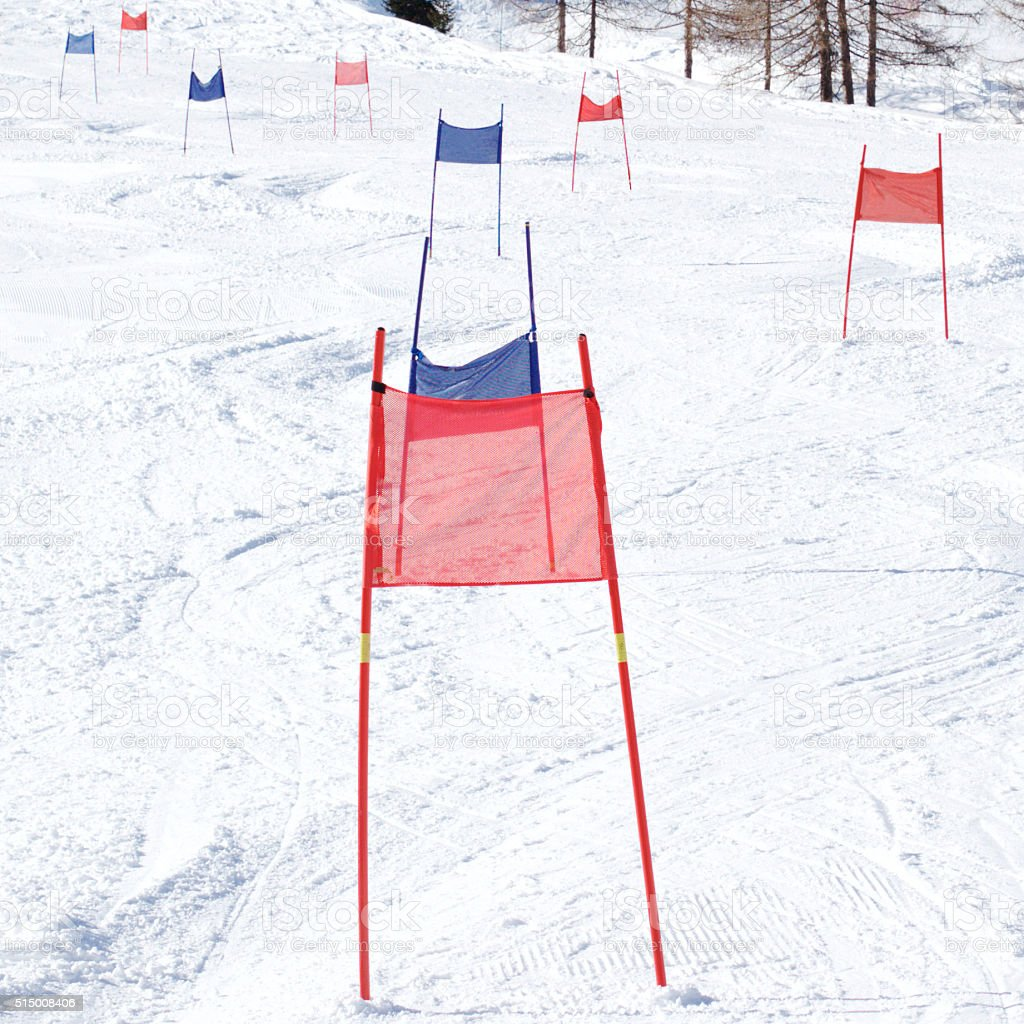 Ski Gates stock photo