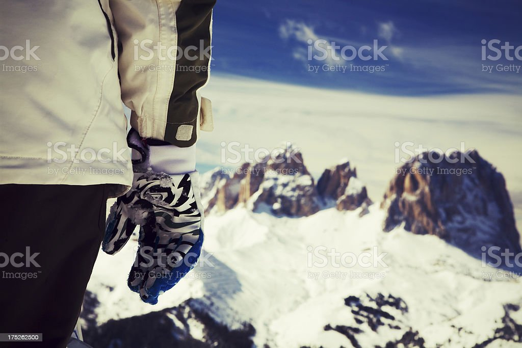 Ski gloves royalty-free stock photo